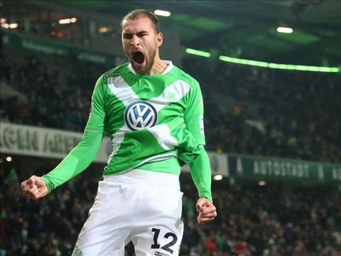 Bas Dost cua Wolfsburg hinh anh