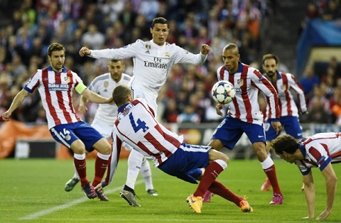 Video ban thang Atletico Madrid 0-0 Real Madrid (Tu ket luot di Champions League 20142015) hinh anh