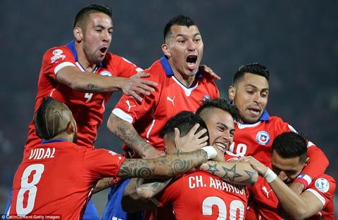 Tu ket Copa America 2015 Chile cham tran DKVD Uruguay, Argentina tai ngo Colombia hinh anh