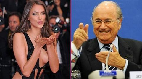 SOC Ban gai cu cua Ronaldo Irina Shayk tung cap bo voi Sepp Blatter hinh anh