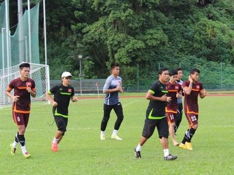 U23 Viet Nam vao rung tap luyen
