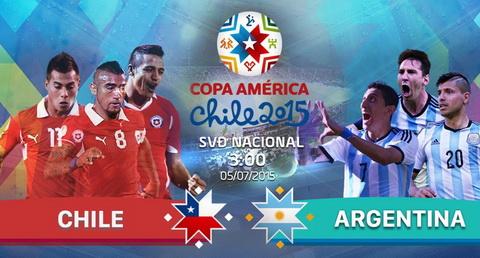 Chile 0-0 (4-1) Argentina: Thu thanh Bravo toa sang trong loat dau sung, Chile lan dau vo dich Copa America