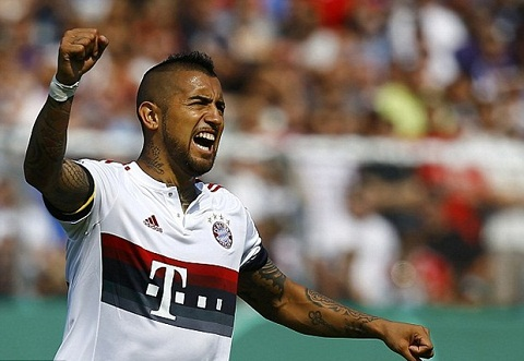 Bayern Munich vs Arsenal Tien ve Vidal de doa doi thu hinh anh