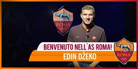 TIN CHINH THUC Edin Dzeko cap ben AS Roma! hinh anh