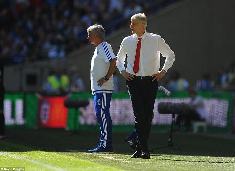 Mourinho len tieng vu tu choi bat tay Wenger hinh anh