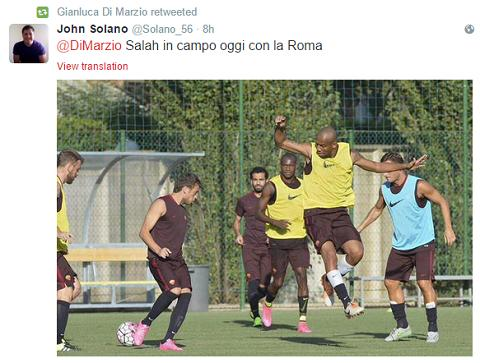 Sao Chelsea chinh thuc tap luyen cung AS Roma du chua ki hop dong hinh anh
