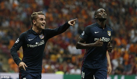 Galatasaray 0-2 Atletico Madrid Goi ten Griezman hinh anh