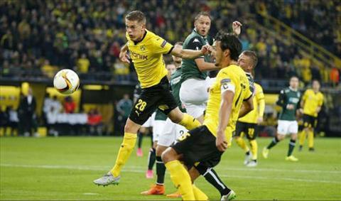 Video clip ban thang Borussia Dortmund 2-1 Krasnodar (Vong bang Europa League 201516) hinh anh