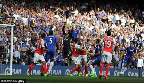 Video clip ban thang Chelsea 2-0 Arsenal (Vong 6 Premier League 201516) hinh anh
