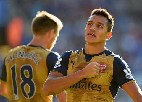Leicester City 2-5 Arsenal HLV Wenger het loi ca ngoi Sanchez hinh anh