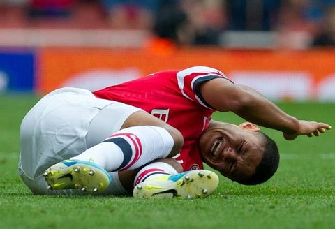 Premier League 201516 Chamberlain hoan toan binh phuc chan thuong hinh anh