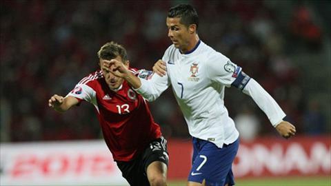 Video clip ban thang Albania 0-1 Bo Dao Nha (Vong loai Euro 2016) hinh anh