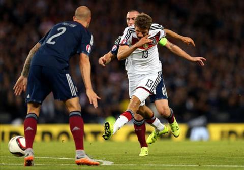 Video clip ban thang Scotland 2-3 Duc (Vong loai Euro 2016) hinh anh