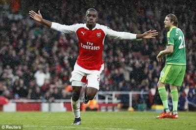 Video clip ban thang Arsenal 3-1 Sunderland (Vong 3 FA Cup 201516) hinh anh