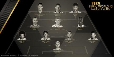 Doi hinh tieu bieu FIFA 2015 Soc nang voi Thiago Silva hinh anh 2