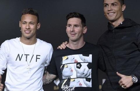 Messi, Ronaldo va Neymar pha tro trong buoi le trao thuong cua FIFA hinh anh