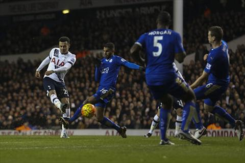 Video clip ban thang Tottenham 0-1 Leicester (Vong 21 Premier League  hinh anh