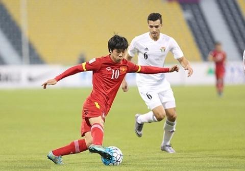 Cong Phuong the ghi ban trong tran dau U23 Viet Nam vs U23 UAE hinh anh