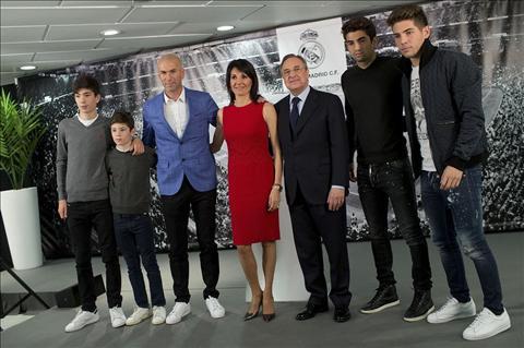 Zidane gia dinh