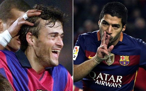 Lap hat-trick vao luoi Bilbao, Suarez can bang thanh tich cua thay Enrique hinh anh