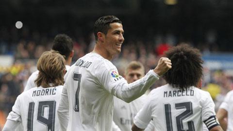 Ronaldo lap cu dup trong tran dau voi Gijon
