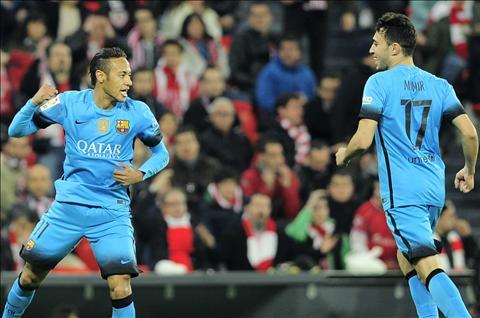 Ngoi sao Neymar noi ve trong tai sau tran dau Bilbao 1-2 Barca hinh anh