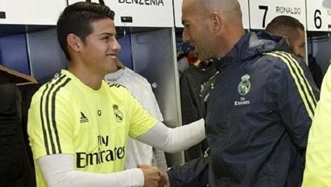 HLV Zidane yeu cau James Rodriguez tap giao an rieng