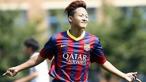 Lee Seung-woo Tren duong tro thanh Messi moi cua Barca hinh anh 2