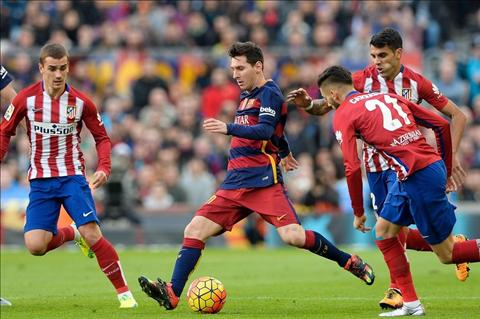Barcelona Atletico Messi