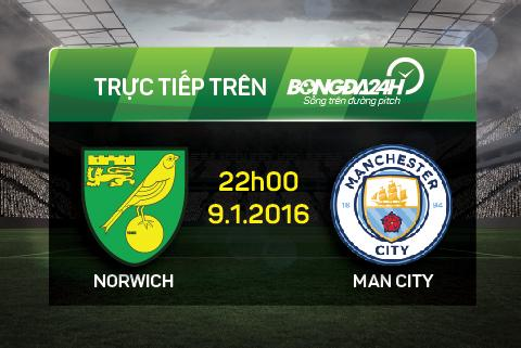 Truc tiep: Norwich - Man City
