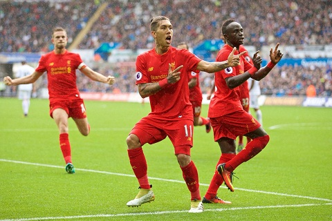 Tong hop Swansea 1-2 Liverpool (Vong 7 Premier League 201617) hinh anh