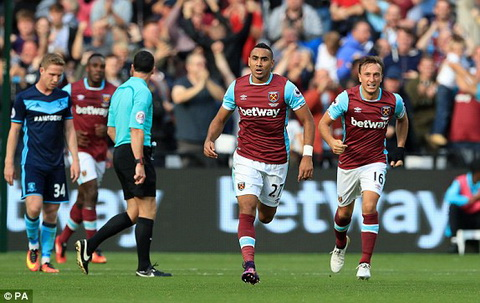 Clip ban thang West Ham vs 1-1 Middlesbrough Vong 7 NHA 201617 hinh anh
