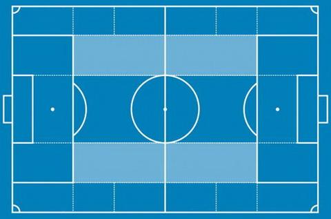 Khoang khong gian mau xanh nhat la vung interiores cua Guardiola.