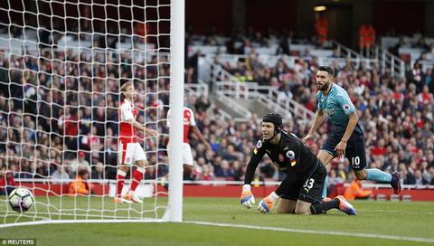 Du am Arsenal 3-2 Swansea Co mot phao thu la ma quen hinh anh