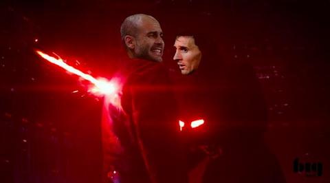 Pep Guardiola bi chinh con quai vat ma ong tao ra la Messi danh bai.