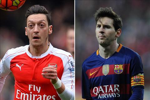 So sánh hai hattrick của Messi vs Ozil tại Champions League đêm qua