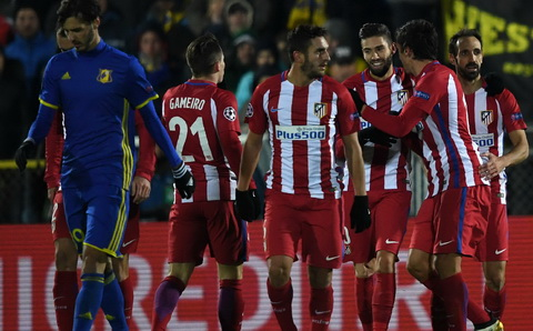 Tổng hợp: Rostov 0-1 Atletico Madrid (Bảng D Champions League 2016/17)
