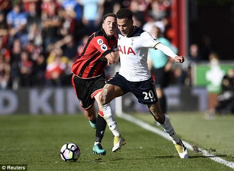 Clip tong hop Bournemouth vs 0-0 Tottenham vong 9 NHA 201617 hinh anh