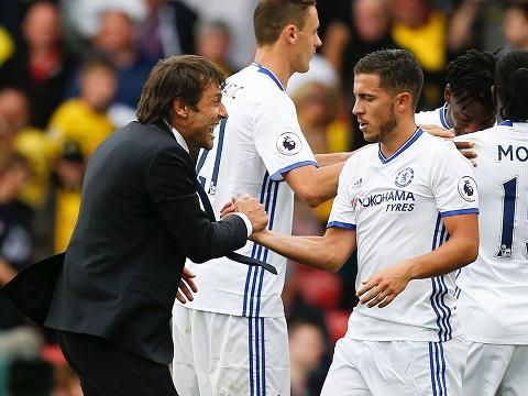 Eden Hazard, Antonio Conte va su tro lai cua doi chan ma thuat hinh anh 2