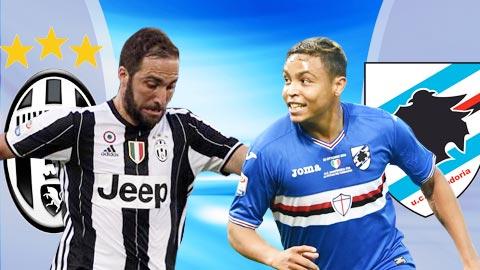 Nhan dinh Juventus vs Sampdoria 01h45 ngay 2710 (Serie A 201617) hinh anh