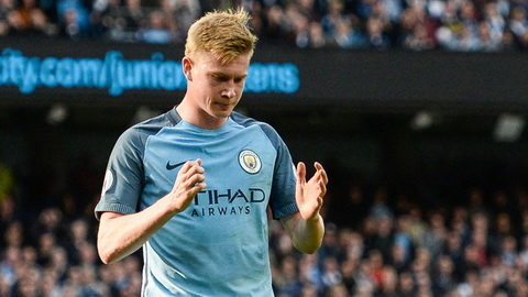 De Bruyne van chua the tro lai trong tran dau West Brom vs Man City.