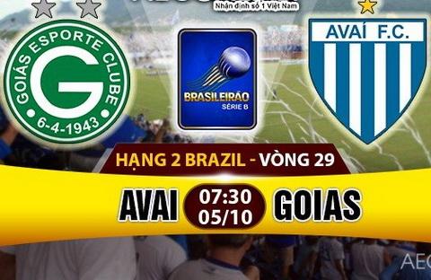 Nhan dinh Avai vs Goias 07h30 ngay 510 (Hang 2 Brazil 2016) hinh anh