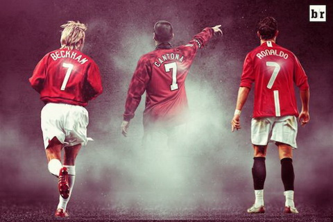 So 7 cua M.U gan lien voi nhung huyen thoai nhu Cantona, Beckham va Cris Ronaldo.