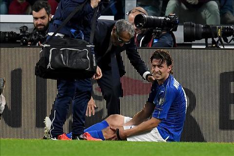 DT Italia va Milan nhan tin soc voi chan thuong cua tru cot hinh anh