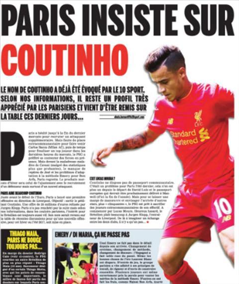 Tiet lo Jurgen Klopp tung ngan can Coutinho den PSG hinh anh