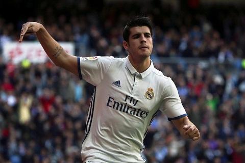 Alvaro Morata la chan sut ghi ban nhieu thu ba cho Real mua nay, chi sau Bale va Ronaldo