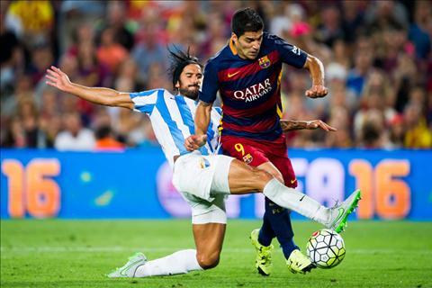 Barca vs Malaga Suarez