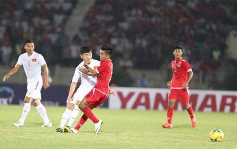Diem nhan Viet Nam 2-1 Myanmar Ranh gioi Trong Hoang hinh anh