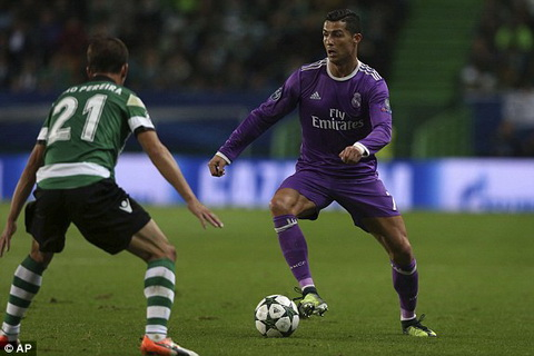 Tổng hợp: Sporting Lisbon 1-2 Real Madrid (Bảng F Champions League 2016/17)