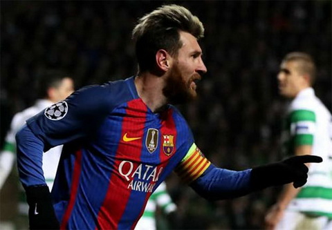 Messi da co chin ban tai vong bang Champions League mua nay. Anh: Reuters